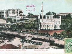 Constantinople Revue de l'armee au serai de Yildiz