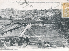 Jerusalem Vue panoramque prise du Mont des Oliviers