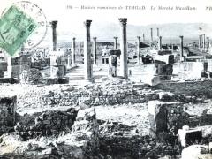 Timgad Ruines romaines Le Marche Macellum