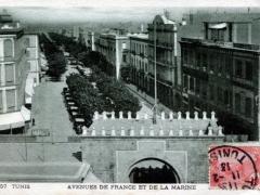 Tunis Avenues de France et de la Marine
