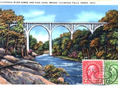 Akron Cuyahoga River Gorge and High Level Bridge Cuyahoga Falls