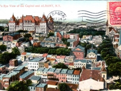 Albany Bird's Eye View of the Capitol and Albany