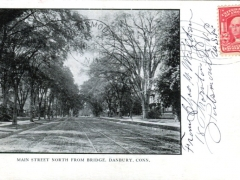 Danbury Main Street North from Bridge