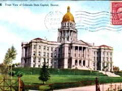 Denver Front View of Colorado State Capitol