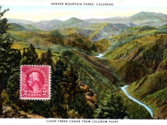 Denver Mountain Parks Clear Creek Canon from Colorow Point