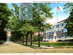 New Castle LIncoln Avenue showing High School