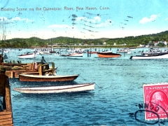 New Haven Boating Scene on the Ouinnipiac River