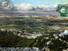 Pasadena and San Gabriel Valley from Summit of Mount Lowe Incline