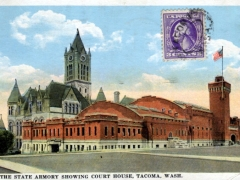 Tacoma the State Armory showing Court House