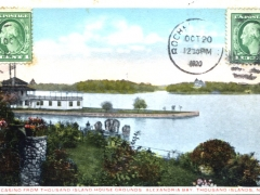 Thousand Islands the Casino from Thousand Island House Grounds Alexandria Bay
