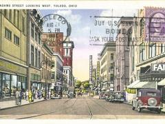 Toledo Adams Street looking West