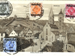 Esslingen a N Burg Stadtkirche Stempel vom letzten Tag