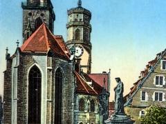 Stuttgart Stiftskirche mit Schiller Denkmal