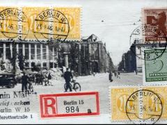 Berlin Zonen Mischfrankatur